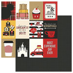 Photo Play Paper - A Day At The Park Collection - 12 x 12 Double Sided Paper - Tiny Prints - 3 x 4 Cards