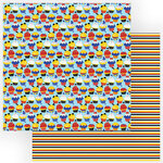 Photo Play Paper - Another Day at the Park Collection - 12 x 12 Double Sided Paper - Cupcakes