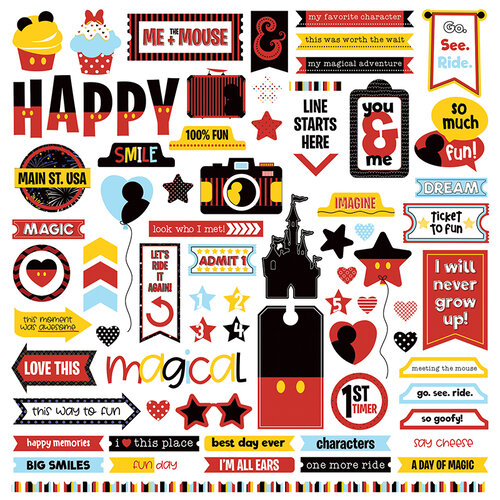Photo Play Paper - Another Day at the Park Collection - 12 x 12 Cardstock Stickers - Elements