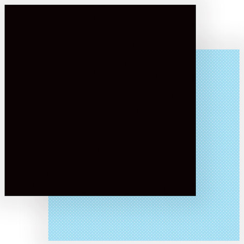 Photo Play Paper - Another Day at the Park Collection - 12 x 12 Double Sided Paper - Solids Plus - Black