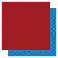 Photo Play Paper - Another Day at the Park Collection - 12 x 12 Double Sided Paper - Solids Plus - Dark Red