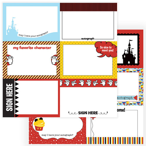 Photo Play Paper - Another Day at the Park Collection - 12 x 12 Double Sided Paper - Autograph Cards
