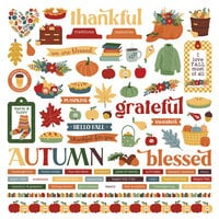 Photo Play Paper - Autumn Greetings Collection - Element Stickers