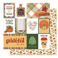 Photo Play Paper - Autumn Greetings Collection - 12 x 12 Double Sided Paper - Happy Fall