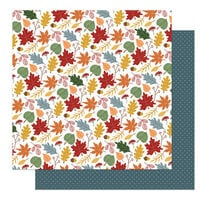 Photo Play Paper - Autumn Greetings Collection - 12 x 12 Double Sided Paper - Leaves Are Falling