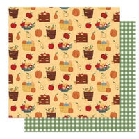 Photo Play Paper - Autumn Greetings Collection - 12 x 12 Double Sided Paper - Fruit Baskets