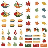 Photo Play Paper - Autumn Greetings Collection - 12 x 12 Single Sided Paper - Pre-Colored Die Cut Outs