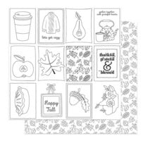 Photo Play Paper - Autumn Greetings Collection - 12 x 12 Double Sided Paper - Color Me Sheet