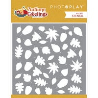 Photo Play Paper - Autumn Greetings Collection - 6 x 6 Stencils