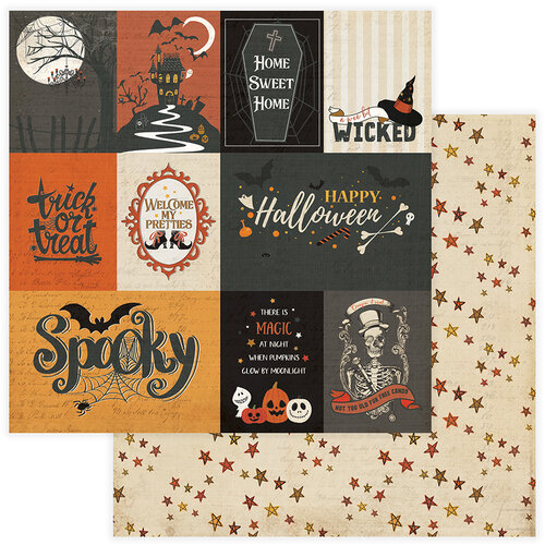 Photo Play Paper - All Hallows Eve Collection - 12 x 12 Double Sided Paper - Spooky