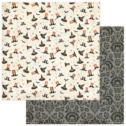 Photo Play Paper - All Hallows Eve Collection - 12 x 12 Double Sided Paper - A Little Witchy