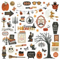 Photo Play Paper - All Hallows Eve Collection - 12 x 12 Cardstock Stickers - Elements