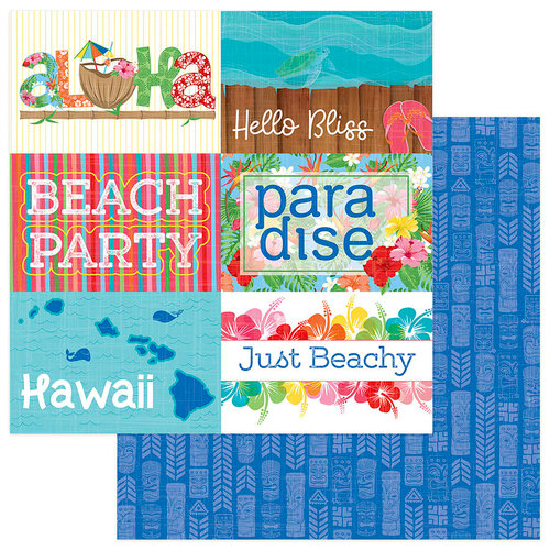 Photo Play Paper - Aloha Collection - 12 x 12 Double Sided Paper - Paradise