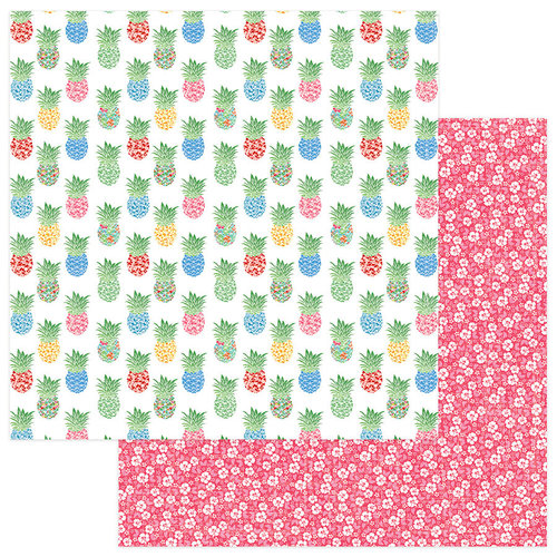 Photo Play Paper - Aloha Collection - 12 x 12 Double Sided Paper - Pineapple Grove