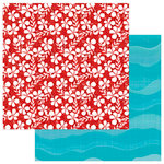 Photo Play Paper - Aloha Collection - 12 x 12 Double Sided Paper - Salty Ocean