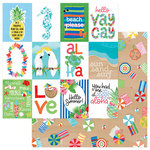 Photo Play Paper - Aloha Collection - 12 x 12 Double Sided Paper - Just Beachy