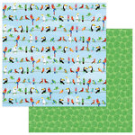 Photo Play Paper - Aloha Collection - 12 x 12 Double Sided Paper - Parrot Bay