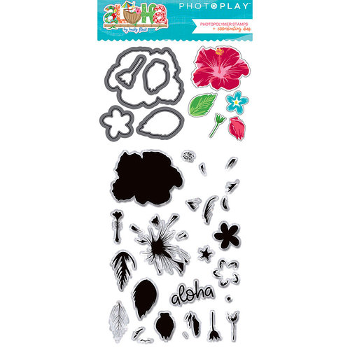 Photo Play Paper - Aloha Collection - Dies and Clear Acrylic Stamp Set