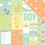 Photo Play Paper - About a Little Boy Collection - 12 x 12 Double Sided Paper - Peek A Boo