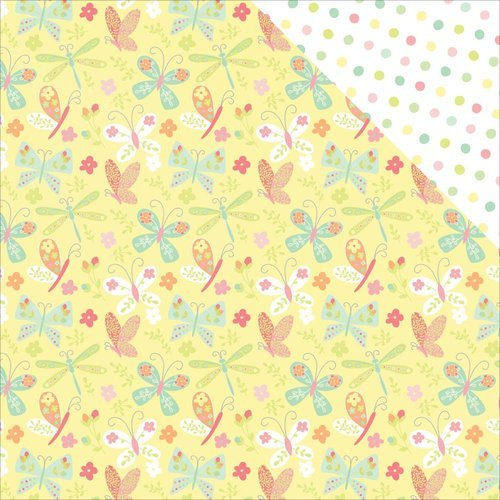 Photo Play Paper - About a Little Girl Collection - 12 x 12 Double Sided Paper - Flutter