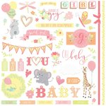 Photo Play Paper - About a Little Girl Collection - 12 x 12 Cardstock Stickers - Elements