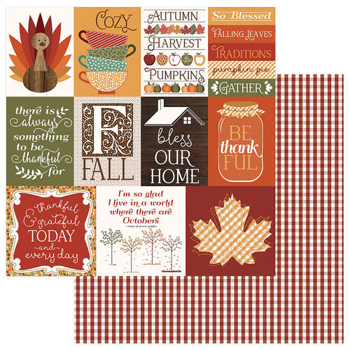 Photo Play Paper - Autumn Orchard Collection - 12 x 12 Double Sided Paper - Thankful