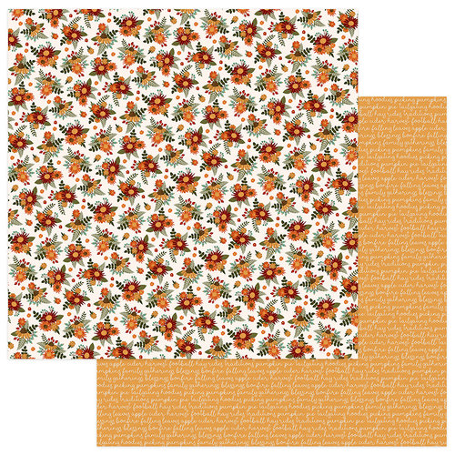 Photo Play Paper - Autumn Orchard Collection - 12 x 12 Double Sided Paper - Grateful