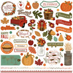 Photo Play Paper - Autumn Orchard Collection - 12 x 12 Cardstock Stickers - Elements