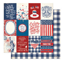 Photo Play Paper - America The Beautiful Collection- 12 x 12 Double Sided Paper - Liberty