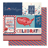 Photo Play Paper - America The Beautiful Collection- 12 x 12 Double Sided Paper - Land Of The Free