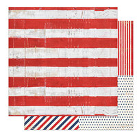 Photo Play Paper - America The Beautiful Collection- 12 x 12 Double Sided Paper - Old Glory