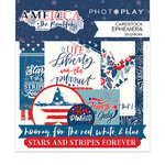 Photo Play Paper - America The Beautiful Collection - Die Cut Cardstock Pieces - Ephemera