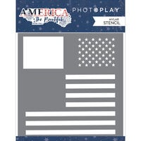 Photo Play Paper - America The Beautiful Collection - Stencil - Flag