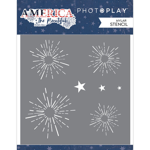 Photo Play Paper - America The Beautiful Collection - Stencil - Firework