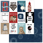 Photo Play Paper - Best Dad Ever Collection - 12 x 12 Double Sided Paper - Super Dad
