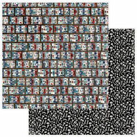 Photo Play Paper - Best Dad Ever Collection - 12 x 12 Double Sided Paper - License Plate