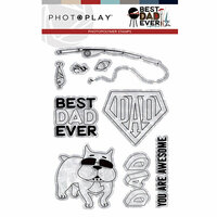 Photo Play Paper - Best Dad Ever Collection - Photopolymer Stamps