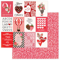 Photo Play Paper - Be Mine Collection - 12 x 12 Double Sided Paper - You're Sweet