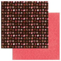 Photo Play Paper - Be Mine Collection - 12 x 12 Double Sided Paper - Box of Chocolates
