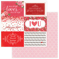 Photo Play Paper - Be Mine Collection - 12 x 12 Double Sided Paper - Follow Your Heart
