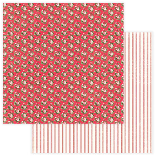 Photo Play Paper - Be Mine Collection - 12 x 12 Double Sided Paper - Forever