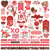 Photo Play Paper - Be Mine Collection - 12 x 12 Cardstock Sticker Sheet
