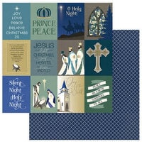 Color Play Paper - Christmas - Bethlehem Collection - 12 x 12 Double Sided Paper - Silent Night