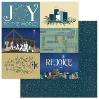 Color Play Paper - Christmas - Bethlehem Collection - 12 x 12 Double Sided Paper - Rejoice