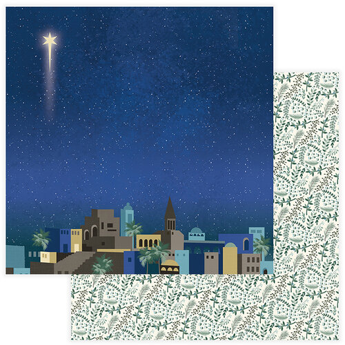 Color Play Paper - Christmas - Bethlehem Collection - 12 x 12 Double Sided Paper - Bethlehem