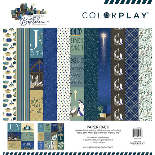 Color Play Paper - Christmas - Bethlehem Collection - 12 x 12 Paper Pack