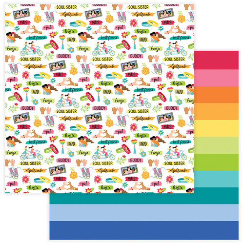 Photo Play Paper - Best Friends Collection - 12 x 12 Double Sided Paper - Friendship