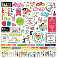 Photo Play Paper - Best Friends Collection - 12 x 12 Cardstock Sticker Sheet