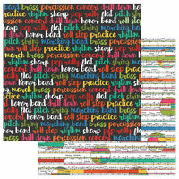 Photo Play Paper - Band Geek Collection - 12 x 12 Double Sided Paper - Treble Maker