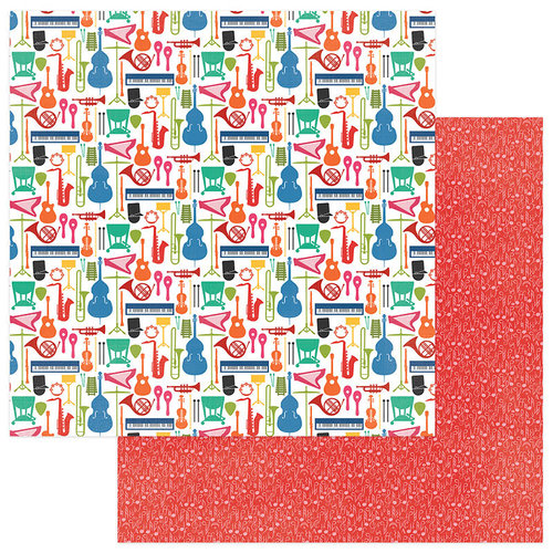 Photo Play Paper - Band Geek Collection - 12 x 12 Double Sided Paper -Band Is Cool